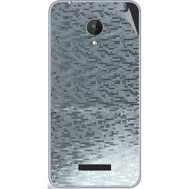 Snooky 44381 Mobile Skin Sticker For Micromax Micromax Canvas Spark Q380 - silver