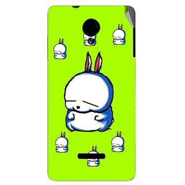 Snooky 45918 Digital Print Mobile Skin Sticker For Micromax Canvas Fun A74 - Green