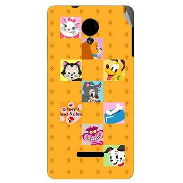 Snooky 45920 Digital Print Mobile Skin Sticker For Micromax Canvas Fun A74 - Yellow