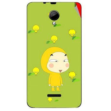 Snooky 45941 Digital Print Mobile Skin Sticker For Micromax Canvas Fun A76 - Green
