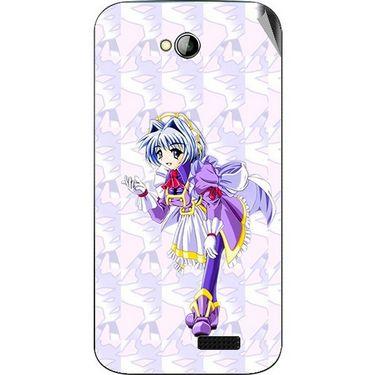 Snooky 45995 Digital Print Mobile Skin Sticker For Micromax Bolt A089 - Purple