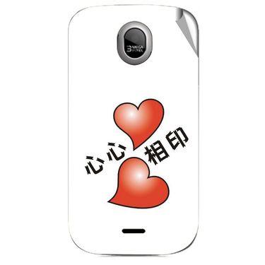 Snooky 46020 Digital Print Mobile Skin Sticker For Micromax Ninja A89 - White