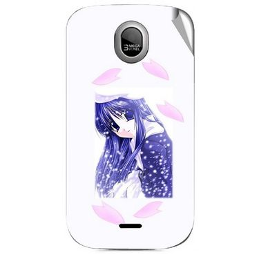 Snooky 46031 Digital Print Mobile Skin Sticker For Micromax Ninja A89 - White