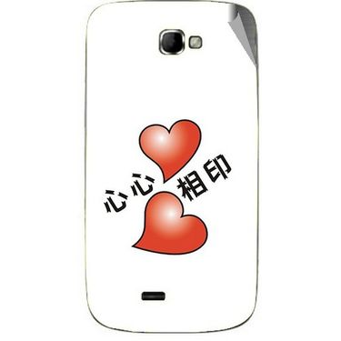 Snooky 46084 Digital Print Mobile Skin Sticker For Micromax Canvas Engage A091 - White