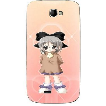 Snooky 46088 Digital Print Mobile Skin Sticker For Micromax Canvas Engage A091 - Orange