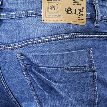 Blended Cotton Slim Fit Jeans_1011 - Blue