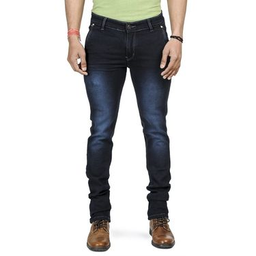 Pack of 2 Blended Cotton Slim Fit Jeans_5021061 - Blue