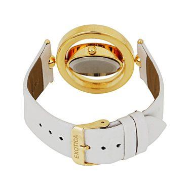 Exotica Fashions Analog Round Dial Watch For Women_Efl15w5 - White & Grey