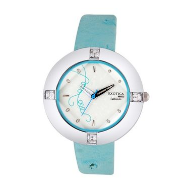 Exotica Fashions Analog Round Dial Watch For Women_Efl29w10 - White
