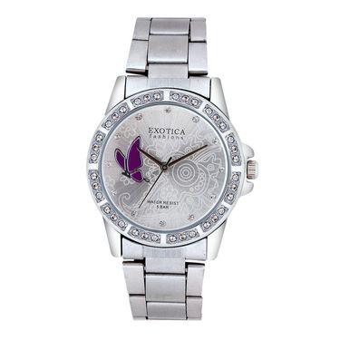 Exotica Fashions Analog Round Dial Watch For Women_Efl95w13 - White