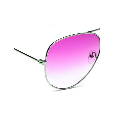 Alee Metal Oval Unisex Sunglasses_124 - Pink