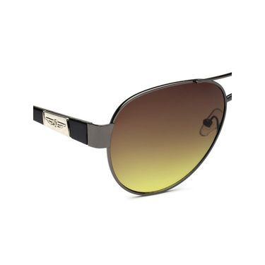 Alee Metal Oval Unisex Sunglasses_133 - Brown