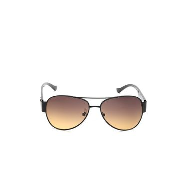 Alee Metal Oval Unisex Sunglasses_162 - Brown