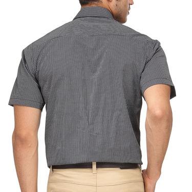 Rico Sordi Half Sleeves Stripes Shirt_R001hs - Black