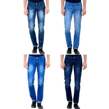 Pack of 4 Slim Fit Attractive Jeans_Jd86s16
