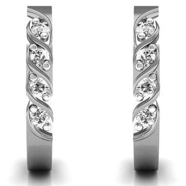 Ag Real Diamond Sonam Earrings_Agse0127w