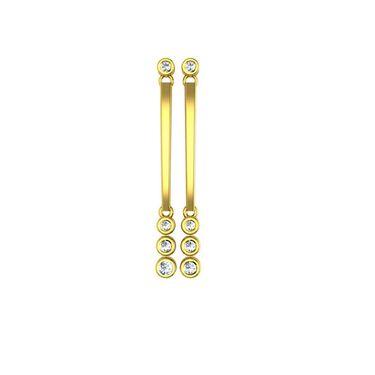 Ag Real Diamond Channai Earrings_Agse0147y