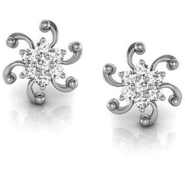 Avsar Real Gold and Swarovski Stone Patana Earrings_Ave001wb