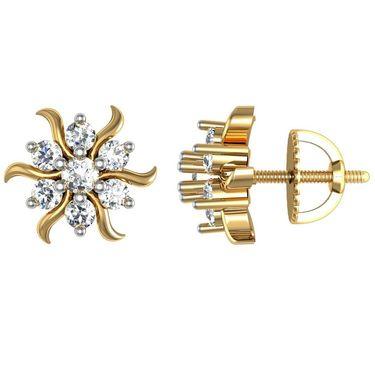 Avsar Real Gold and Swarovski Stone Swara Earrings_Ave019yb
