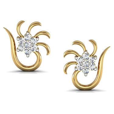Avsar Real Gold and Swarovski Stone Shruti Earrings_Ave049yb