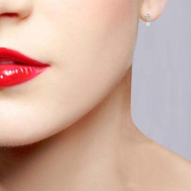 Avsar Real Gold and Swarovski Stone Neelam Earrings_Ave0123wb
