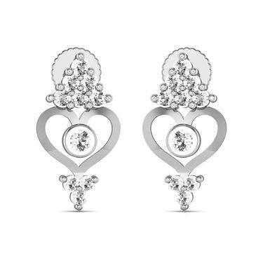 Avsar Real Gold and Swarovski Stone Varsha Earrings_Ave0156wb