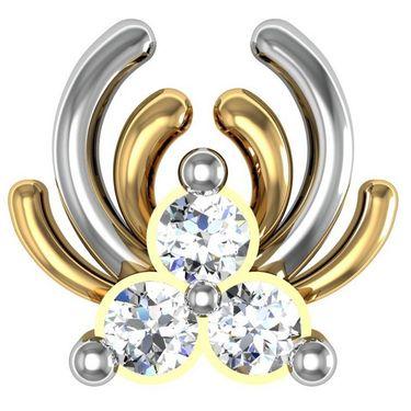 Avsar Real Gold and Swarovski Stone Geet Earrings_Bge013yb