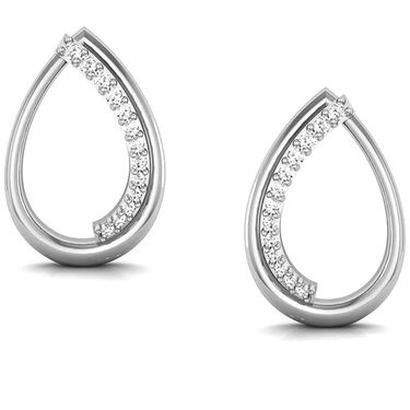 Avsar Real Gold and Swarovski Stone Kajol Earrings_Bge025wb