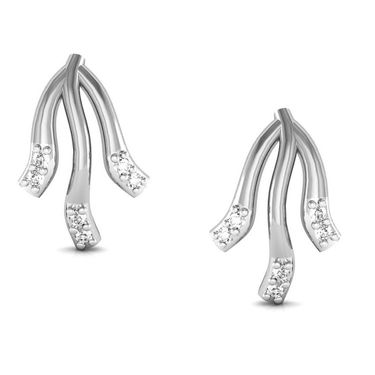 Avsar Real Gold and Swarovski Stone Sadhna Earrings_Bge037yb