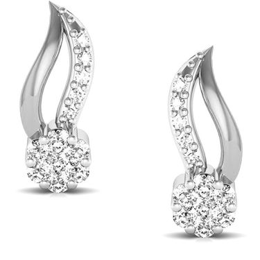 Avsar Real Gold and Swarovski Stone Sachi Earrings_Bge045wb
