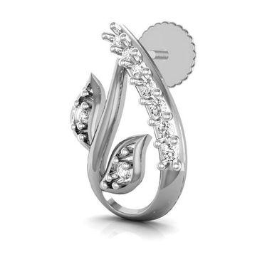 Avsar Real Gold and Swarovski Stone Pooja Earrings_Bge067wb