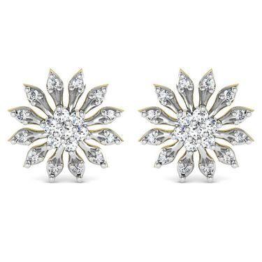 Avsar Real Gold and Swarovski Stone Kinjal Earrings_Bge069yb