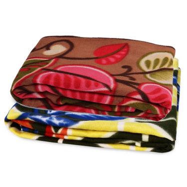 Storyathome Pack of 2 Designer Printed Double Fleece Blanket-CA1211-CA1208