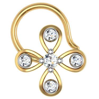 Avsar Real Gold & Swarovski Stone kashmir Nose Pin_Av23yb