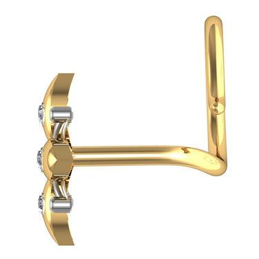 Avsar Real Gold & Swarovski Stone Madras Nose Pin_Av14yb