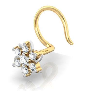 Avsar Real Gold & Swarovski Stone Rajastan Nose Pin_Av10yb