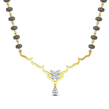 Avsar Real Gold & Swarovski Stone Goa Necklace_Nl11yb