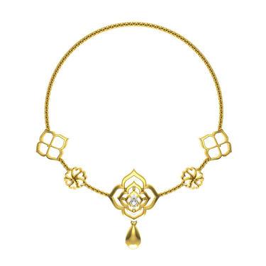 Avsar Real Gold & Swarovski Stone Kajal Necklace_Nl15yb