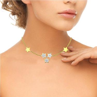 Avsar Real Gold & Swarovski Stone Roshani Necklace_Nl9yb