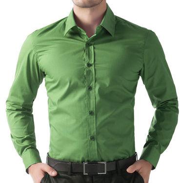 Full Sleeves Cotton Shirt_grnsht - Green