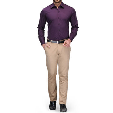 Full Sleeves Cotton Shirt_prplsht - Purple