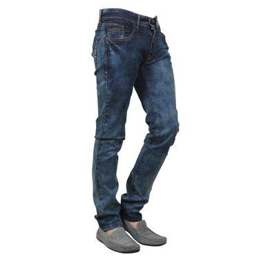 Branded Cotton Slim Fit Jeans_Dgdb - Dark Blue