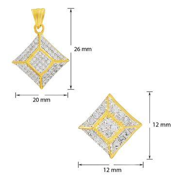 Mahi Gold Plated CZ Pendant Set_Nl1100139g