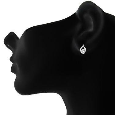 Mahi Rhodium Plated Swarovski Zirconia Pendant Set_Nl1105022r
