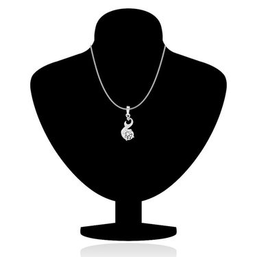 Mahi Rhodium Plated Swarovski Zirconia Pendant Set_Nl1105023r