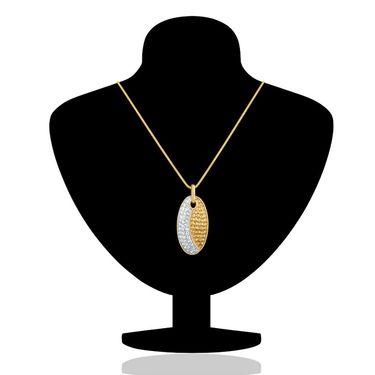 Branded Gold Plated Crystal Pendant Set_Nl2101885g