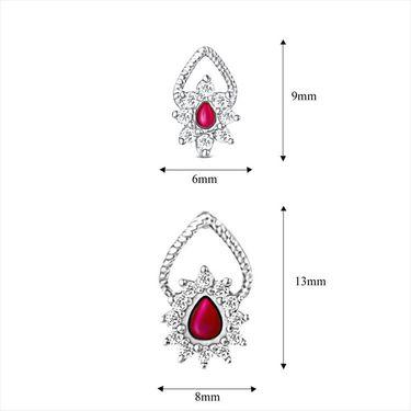 Mahi Rhodium Plated Swarovski Zirconia Pendant Set_Nl3101006cpin