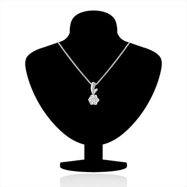 Mahi Rhodium Plated Swarovski Zirconia Pendant Set_Nl3101012c