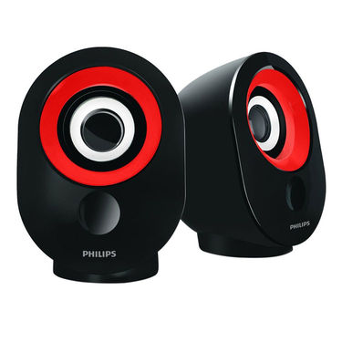Philips Spa 50 Wired Laptop/Desktop Speaker(Red, 2.0 Channel)