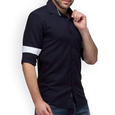 Crosscreek Full Sleeves Cotton Casual Shirt_1180309F - Navy